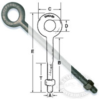 Galvanized Steel Standard Eye Bolts