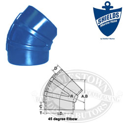 Shields Silicone 45 Degree Elbow Wet Exhaust Couplers