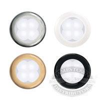 Hella White Slim Line Round LED Courtesy Lamps