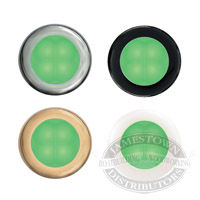 Hella Green Slim Line Round LED Courtesy Lamps