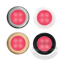 Hella Deep Red Slim Line Round LED Courtesy Lamps
