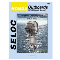Honda Outboard Engine Repair Manuals by Seloc Marine, covering all 4 stroke Honda outboard motors made from 1978 to 1999.
