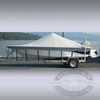 Carver covers for boats with center consoles and high bow rails