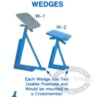 Brownell Galvanized Wedge Motor Boat Stands