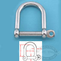 Suncor 316 SS Wide D Shackle with Screw Pin