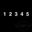 "3"" Block Numbers - White"