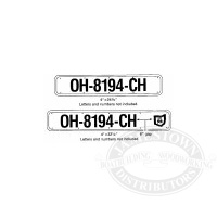 Boat Registration Number Plates