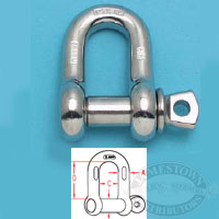 Suncor 316-NM SS Chain Shackle with Screw Pin