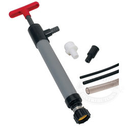 a manual bilge pump is required for