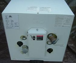 Atwood electric water heater for your boat. Heat exchangers available.