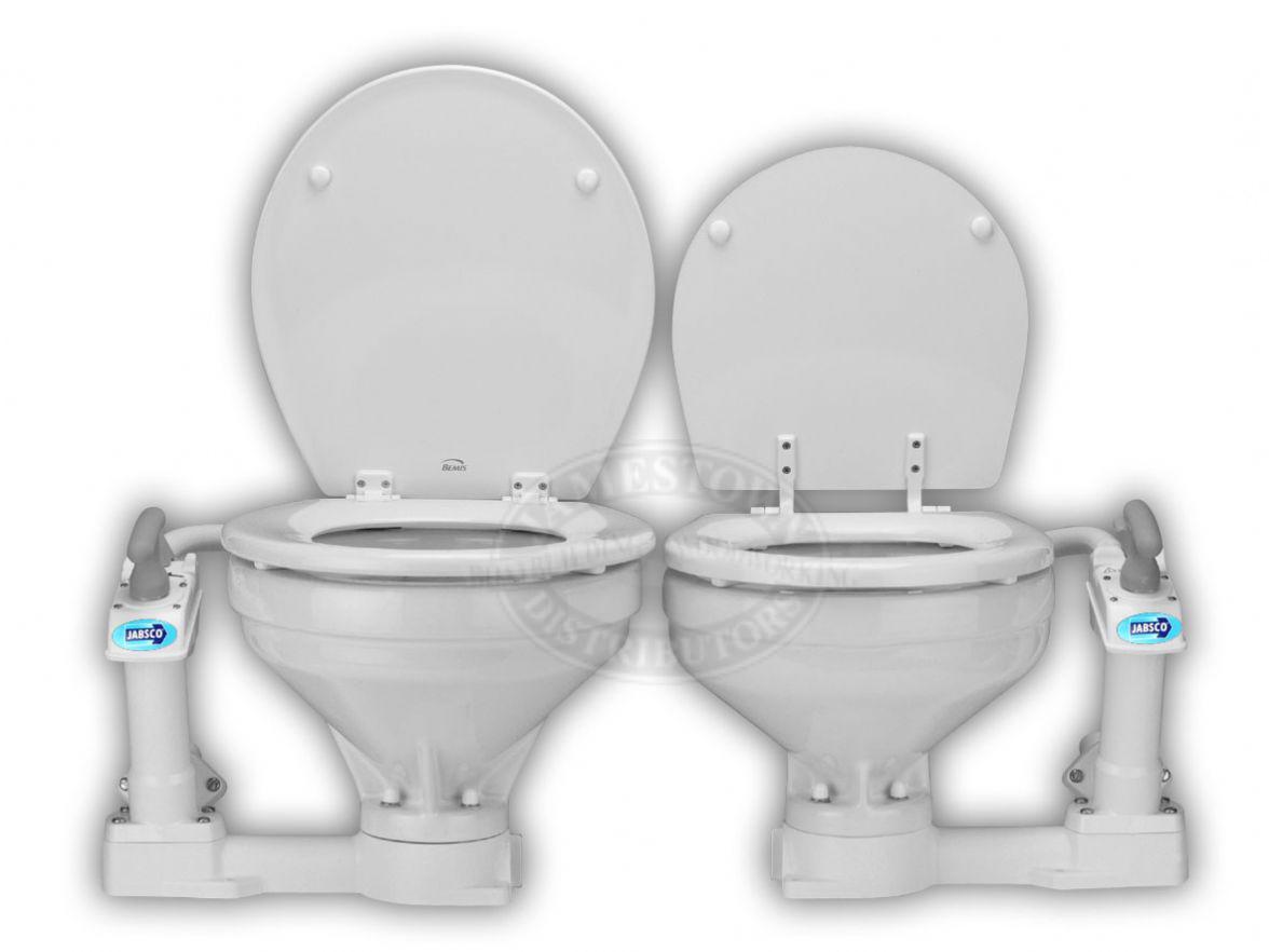 Jabsco Marine Manual Toilet - Compact Bowl Head