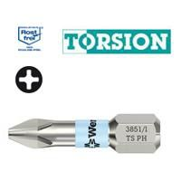 Wera Stainless Steel Phillips Short Driver Bits