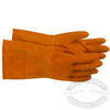 Boss Heavy Duty Orange Flock Lined Latex Gloves