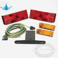 Wesbar - Waterproof - Over 80 - Low Profile Trailer Light and Wire Kit