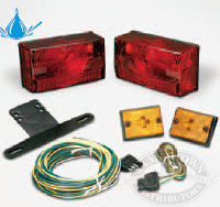 Wesbar Submersible Over 80 Trailer Light and Wire Kit