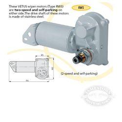 vetus rws wiper motors rh jamestowndistributors com 83 Chevy Wiper Motor Wiring Diagram 4 Wire Wiper Motor Wiring