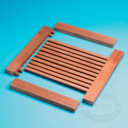 Teak Louvered Door Top / Bottom Stile